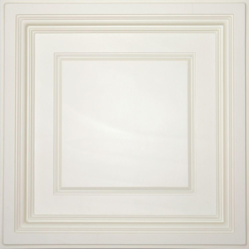 Ceilume Madison Sand Evaluation Sample, Not suitable for installation - 2 ft. x 2 ft. Coffered Ceiling Panel