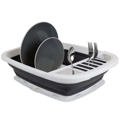 White Large Capacity Collapsible Dish Drainer