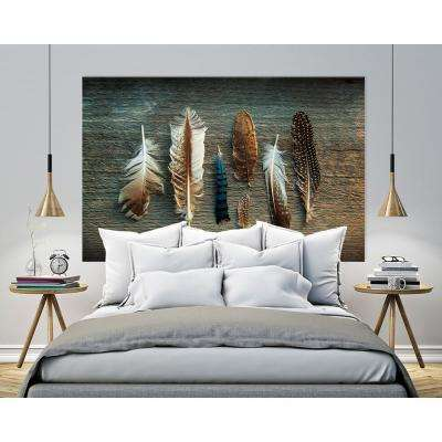 "48 in. x 72 in. ""Feather Collection I"" by Sue Schlabach Printed Framed Canvas Wall Art"
