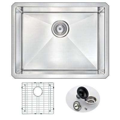 VANGUARD Series Undermount Stainless Steel 23 in. 0-Hole Single Bowl Kitchen Sink