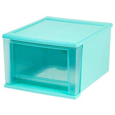 12.05 in. x 8.39 in. 17 Qt. Blue Stacking Drawer