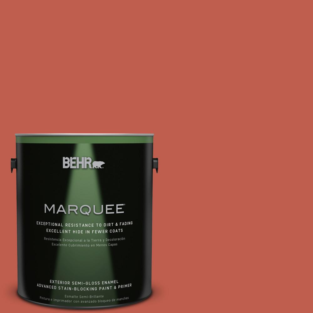 BEHR MARQUEE 1-gal. #200D-6 Mexican Chile Semi-Gloss Enamel Exterior Paint