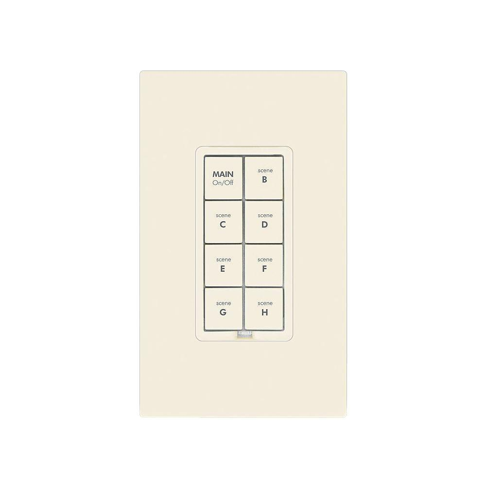 8 Button Dimmer Keypad - Light Almond