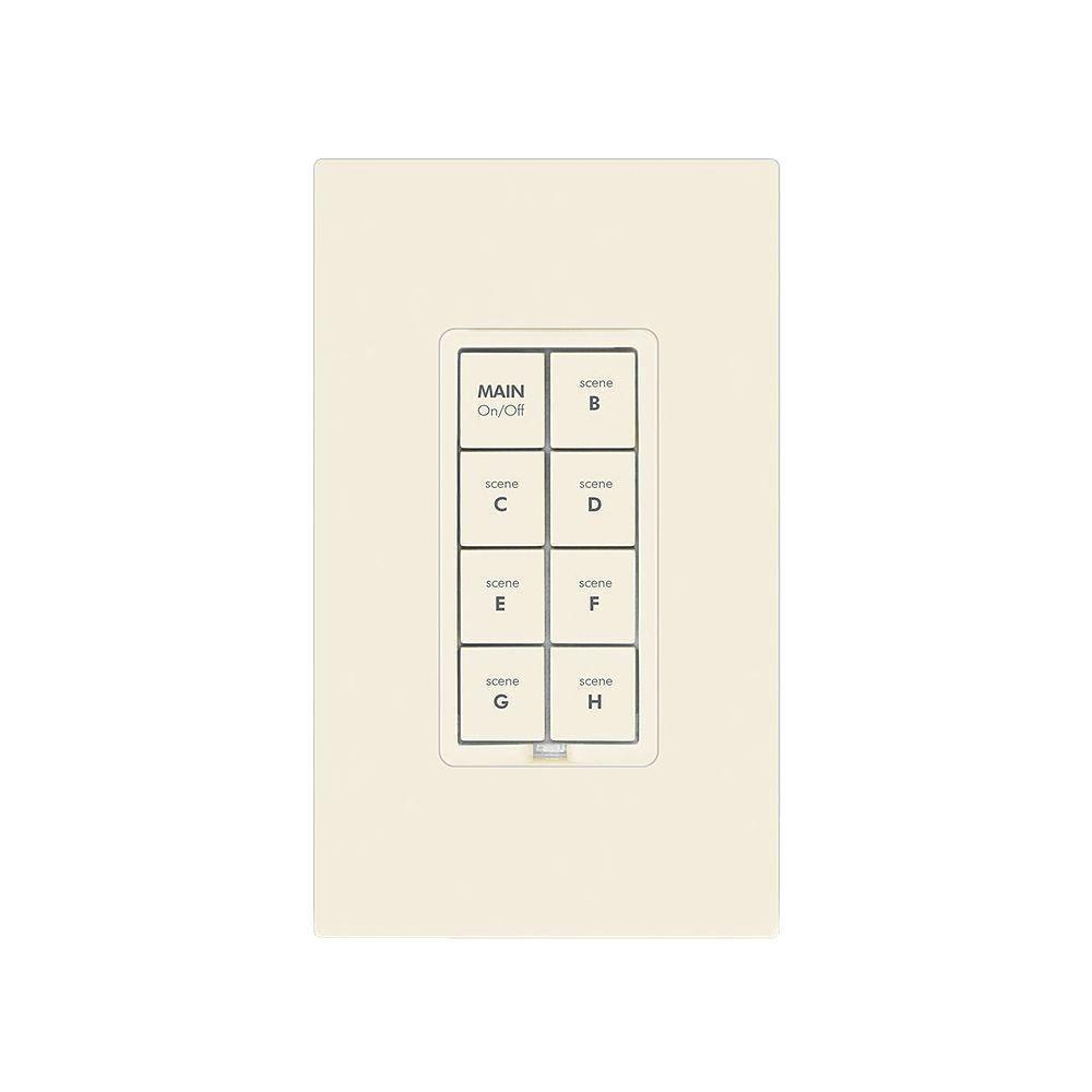8 Button Dimmer Keypad - Light Almond