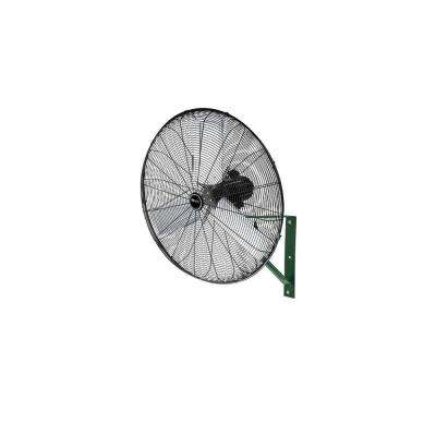 24 in. Outdoor Rated Oscillating Black Wall Mount Air Circulator