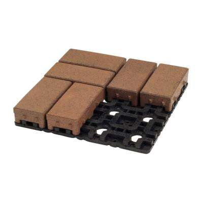 4 in. x 8 in. Boardwalk Composite Permeable Paver Grid System (8 Pavers and 1 Grid)