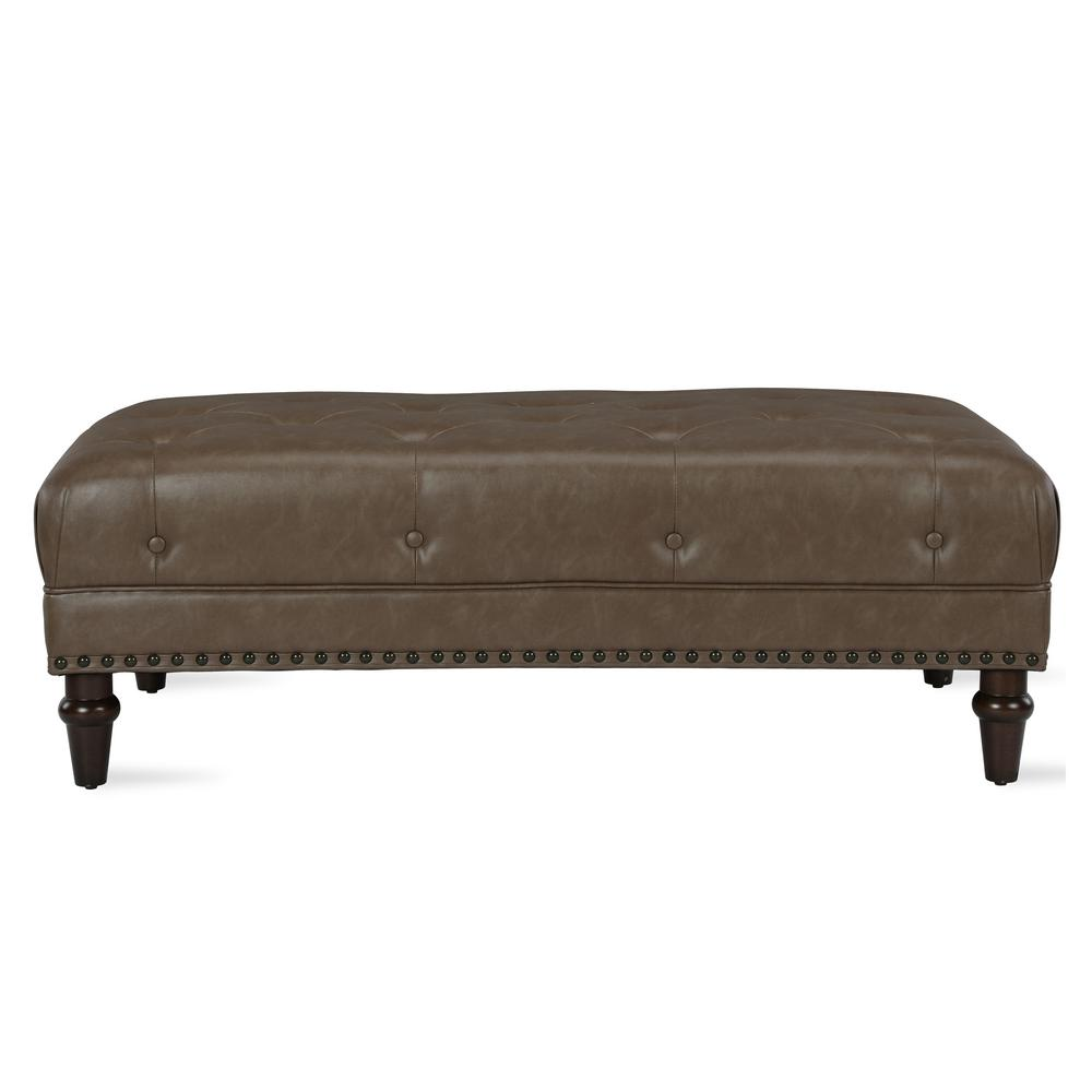 Fabulous Dorel Living Carillo Taupe Tufted Ottoman With Nail Heads Pabps2019 Chair Design Images Pabps2019Com