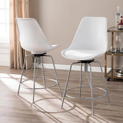 Sterling Heights 39.75 in. White Counter Chairs (Set of 2)
