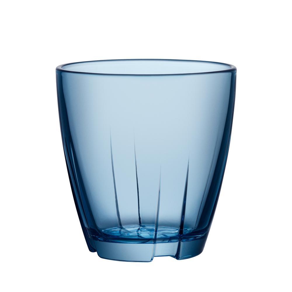Kosta Boda Bruk 6.6 oz. Small Water Blue Tumbler (Set of 8)