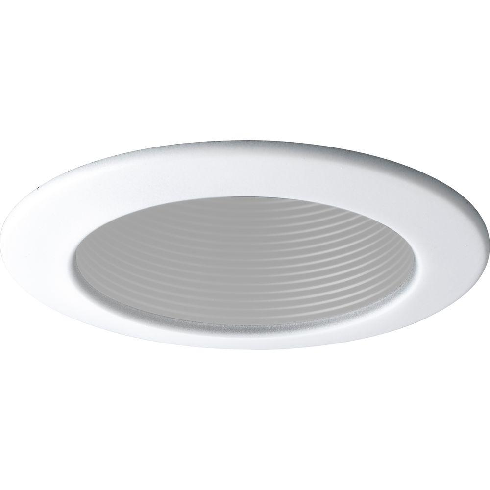 Progress Lighting 4 in. White Recessed Baffle Trim Down lighting is popular choice for providing general and task lighting in homes and offices. By concealing the light source above the ceiling, down lighting is an unobtrusive option for illumination. This step baffle trim is for use with Progress Lighting 4 in. recessed housings.