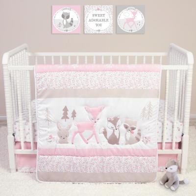 Sweet Forest Friends 4-Piece Crib Bedding Set