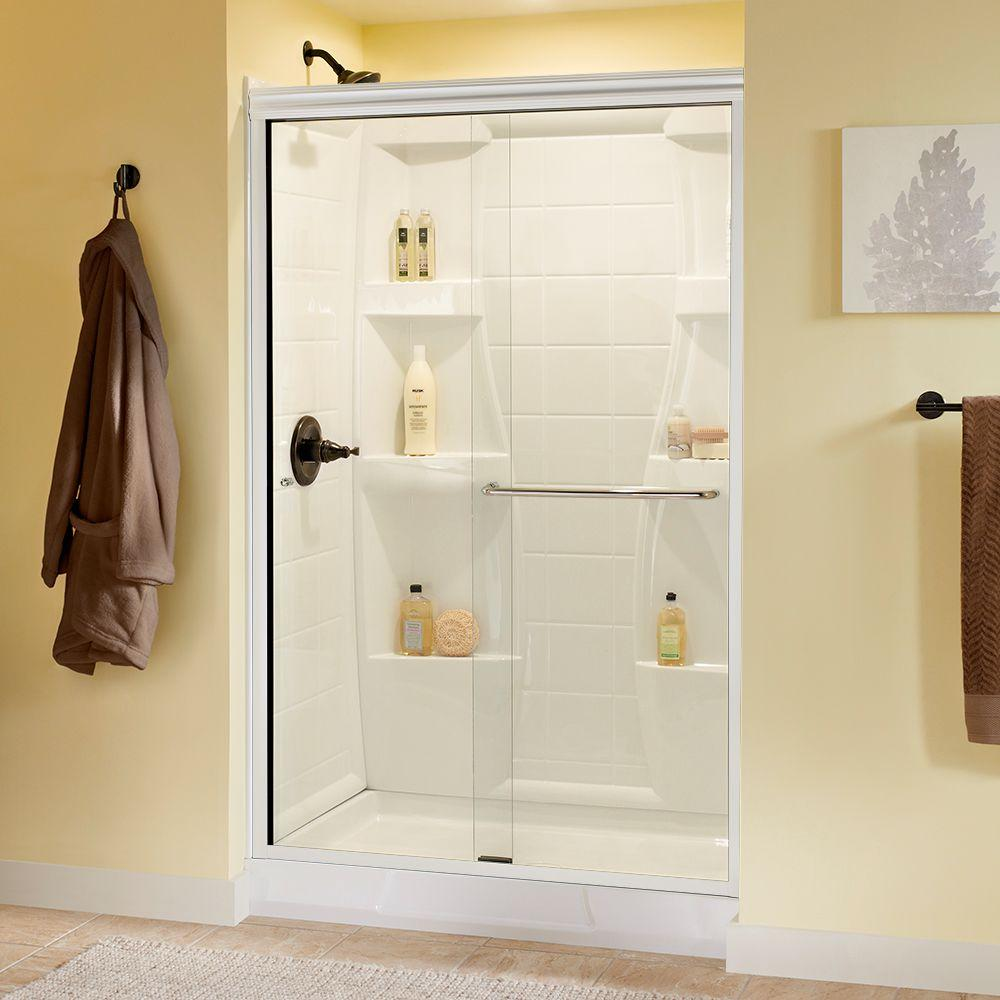 White - Shower Doors - Showers - The Home Depot