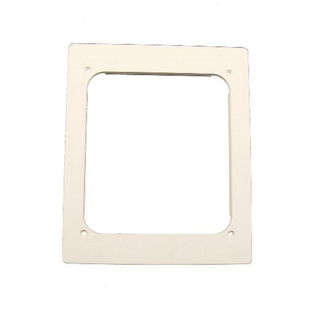 Low Profile Frame for use with REB (Recessed Entertainment Box), White