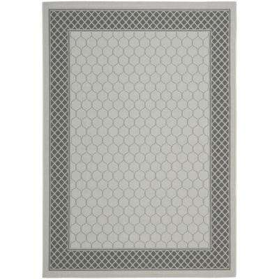 Courtyard Light Gray/Anthracite 8 ft. x 11 ft. Indoor/Outdoor Area Rug