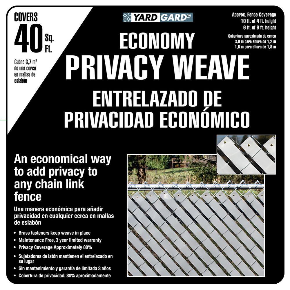 4 ft. H x 250 ft. W White Economy Vinyl Fence Panel Weave