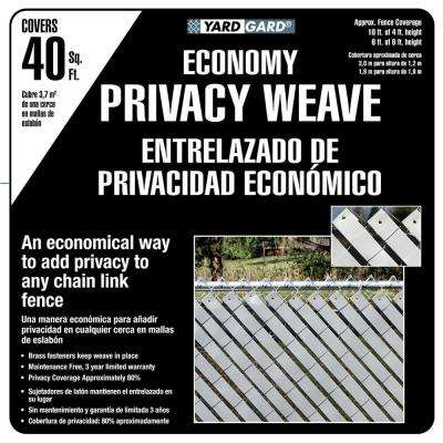 4 ft. H x 250 ft. W White Economy Vinyl Fence Panel Weave
