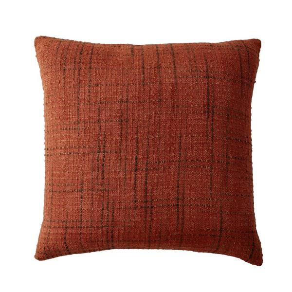 The Company Store Embroidered Decorative Pillow Cover in Multi Embroidered