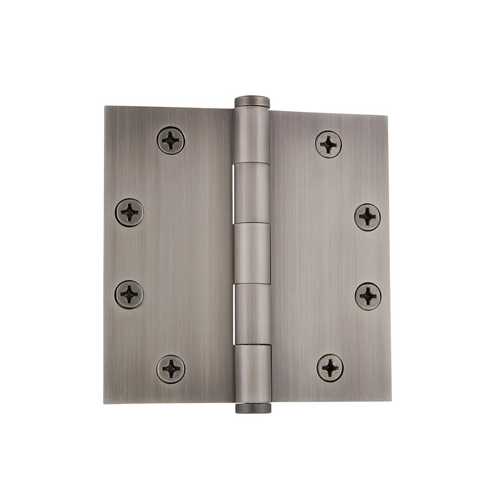 Grandeur 4 5 In Button Tip Heavy Duty Hinge With Square