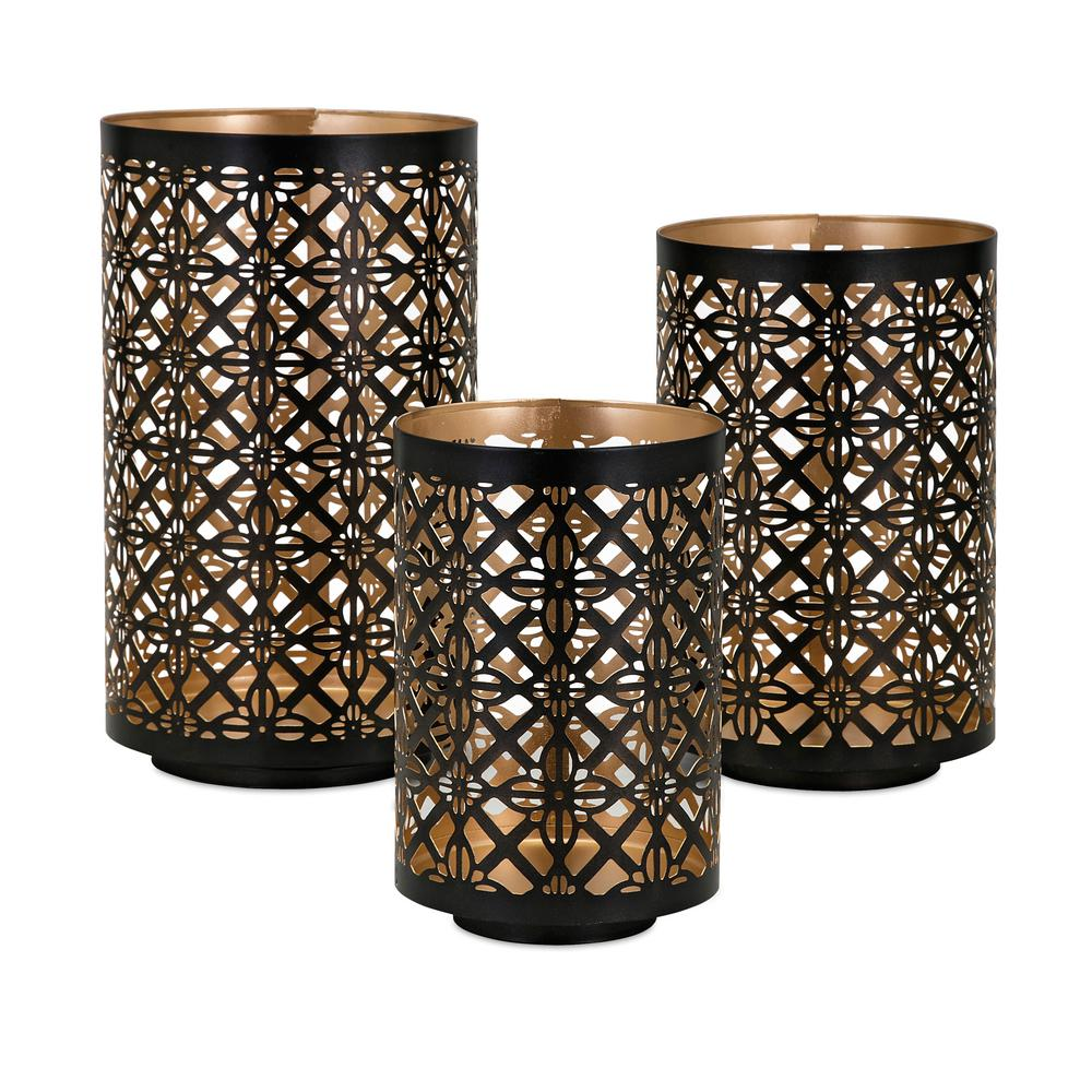 Helena Black Metal Lanterns (3-Pack)