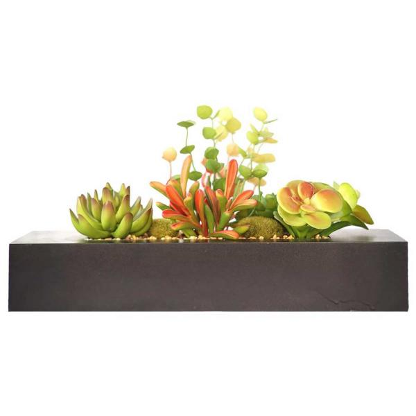 Laura Ashley 8 in. Tall Succulents Artificial Indoor/ Outdoor Faux Dcor