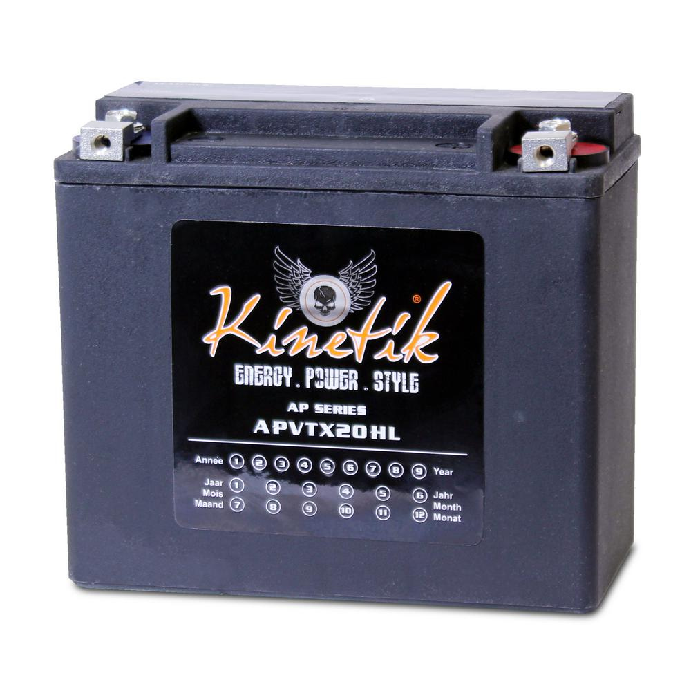 United Pacific Sealed AGM V-Twin Heavy Duty 12-Volt 18 Ah...