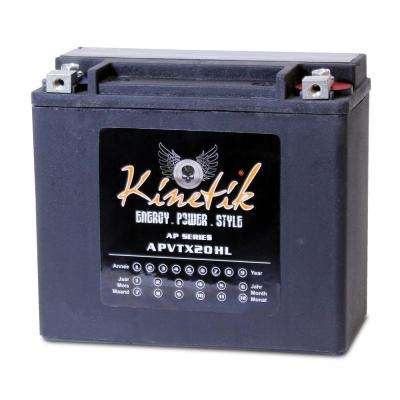 Sealed AGM V-Twin Heavy Duty 12-Volt 18 Ah Capacity HD Terminal Battery