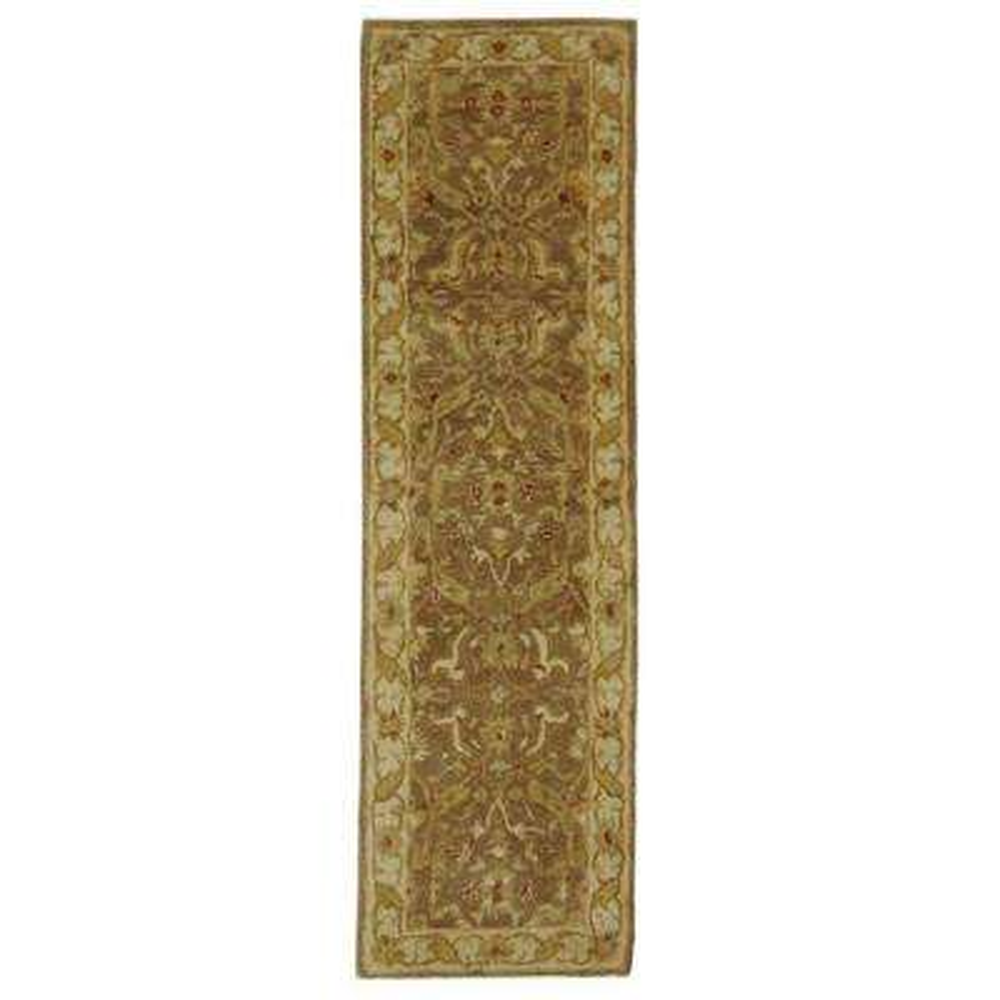 Antiquity Brown/Gold 2 ft. x 10 ft. Runner Rug