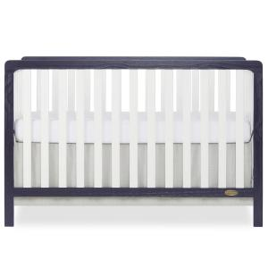 Ridgefield II White and Wires Brushed Navy 5-in-1 Convertible Crib