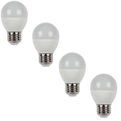 60W Equivalent Warm White G16 1/2 Dimmable LED Light Bulb (4-Pack)