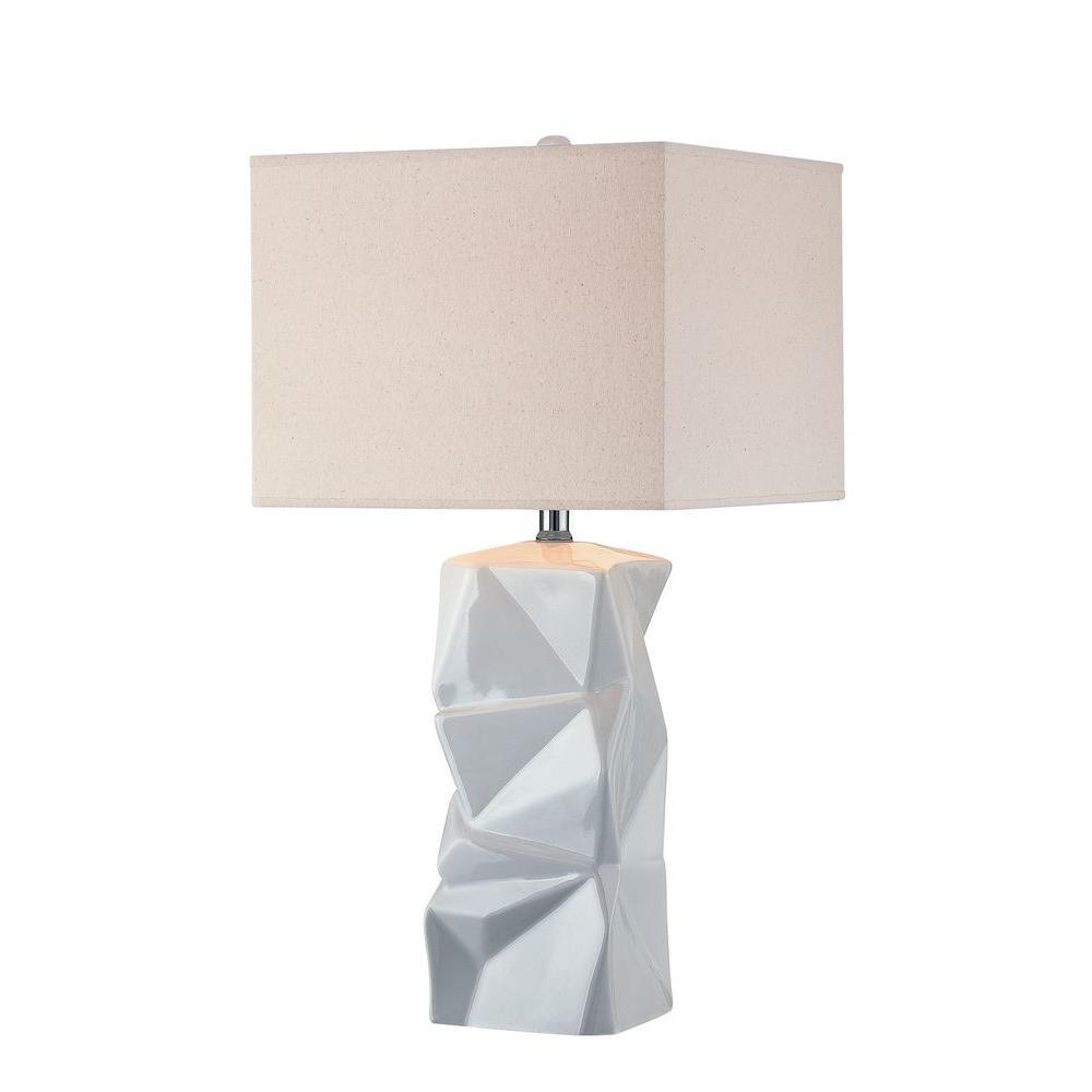 Illumine 26.3 in. White Table Lamp