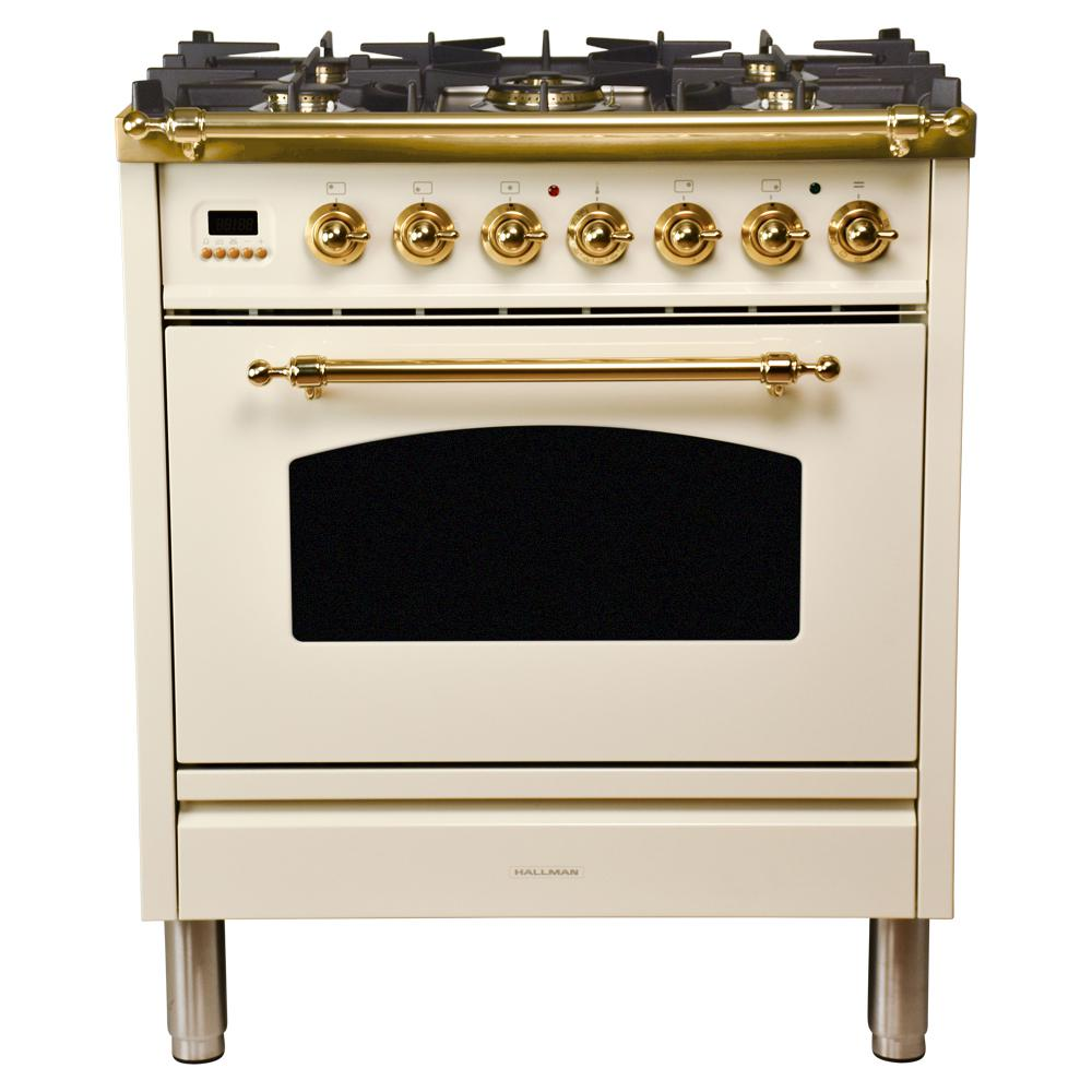 30 in. 3.0 cu. ft. Single Oven Dual Fuel Range with