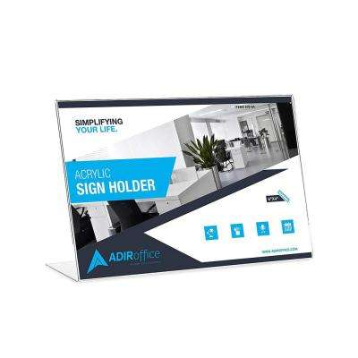 4 in. x 6 in. Landcape Slanted Side Loading Acrylic Sign Holder (24-Pack)
