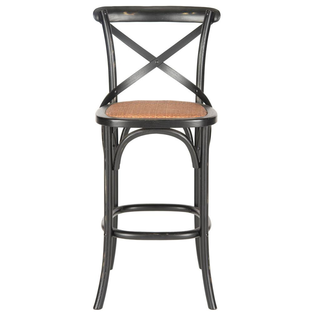 Astonishing Safavieh Franklin 30 7 In Black Bar Stool Amh9502B The Ncnpc Chair Design For Home Ncnpcorg