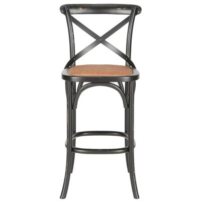 Franklin 30.7 in. Black Bar Stool