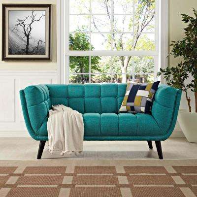Bestow Teal Upholstered Fabric Loveseat