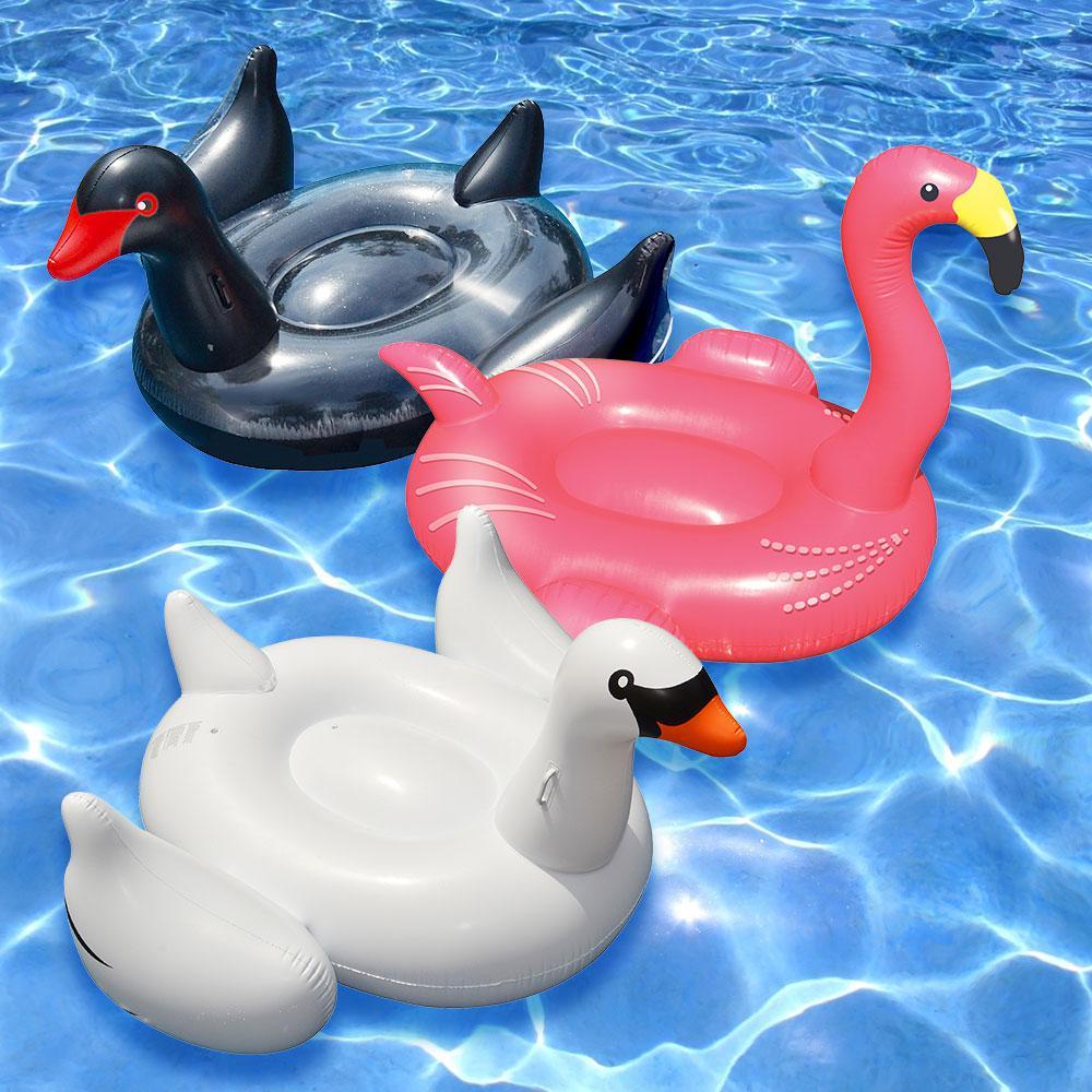 Swimline Giant White Swan Flamingo And Black Swan Swimming