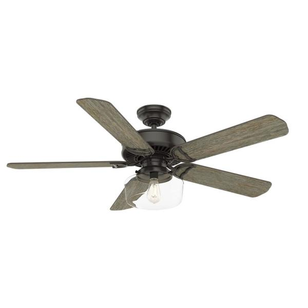 Panama Sun 54 in. Indoor Noble Bronze Ceiling Fan with Light Kit and Wall Control