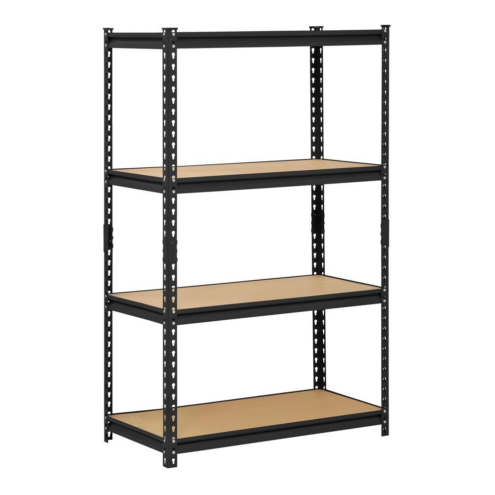X 18 In D 4 Shelf Steel Shelving Unit