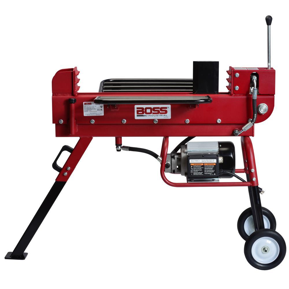 Boss Industrial 10-Ton 15 Amp Electric Dual Direction Log Splitter