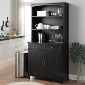 USL Black Farmhouse Buffet with Hutch SK19295D1-BK - The ...