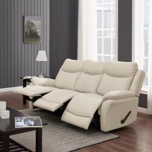 Sensational Prolounger Off White Almond Tuff Stuff Fabric 3 Seat Wall Pabps2019 Chair Design Images Pabps2019Com