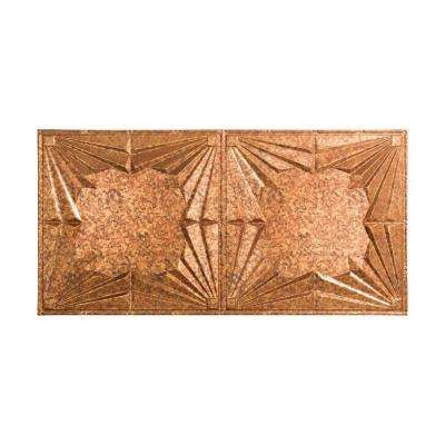 Art Deco - 2 ft. x 4 ft. Glue-up Ceiling Tile in Cracked Copper