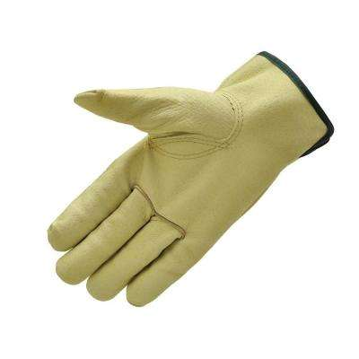 Grain Pigskin Leather Large Work Gloves (3-Pair)