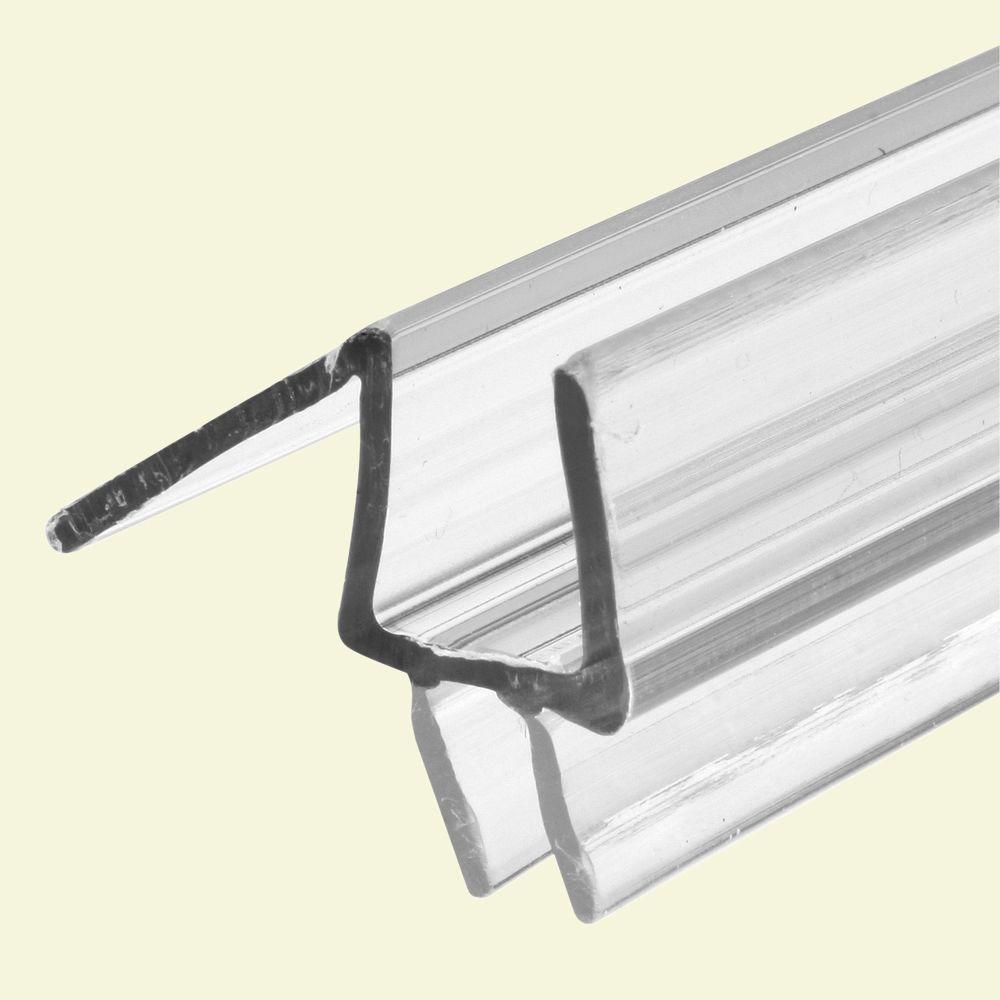 3/8 in. x 36 in. Clear Vinyl Glass Door Bottom Seal