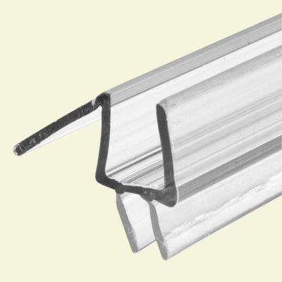 3/8 in. x 36 in. Clear Vinyl Glass Door Bottom Seal