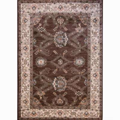 HD Sapphire Brown 7 ft. 8 in. x 10 ft. 4 in. Indoor Area Rug