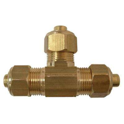 Lead-Free Brass Compression Tee 3/8 in. x 3/8 in. x 1/4 in.