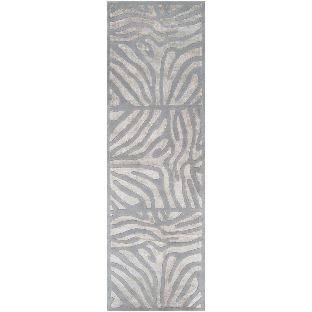 Surya candice olson slate 2 ft 6 in x 8 ft rug runner for Candice olson area rugs