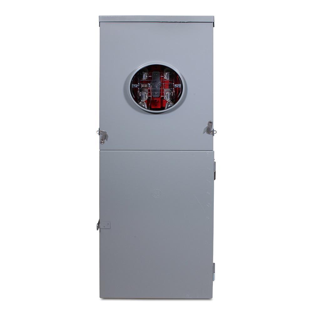 125 Amp 12-Space 24-Circuit Combination Main Breaker/Ringless Meter Socket Outdoor Load Center