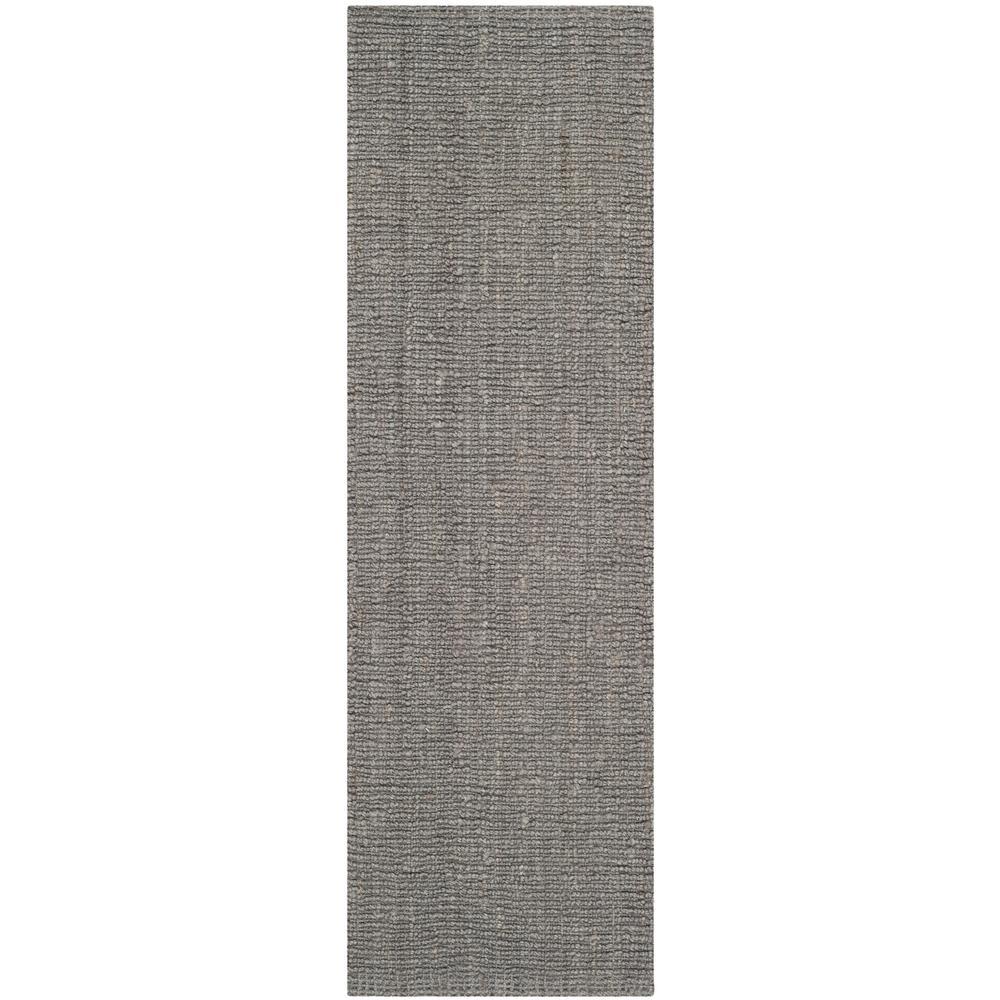 Natural Fiber Light Gray 2 ft. 6 in. x 22 ft. Indoor Runner Rug